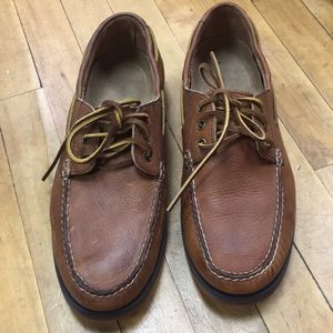 EUC Sz 10 Brown  Leather Loafers Polo Ralph Lauren